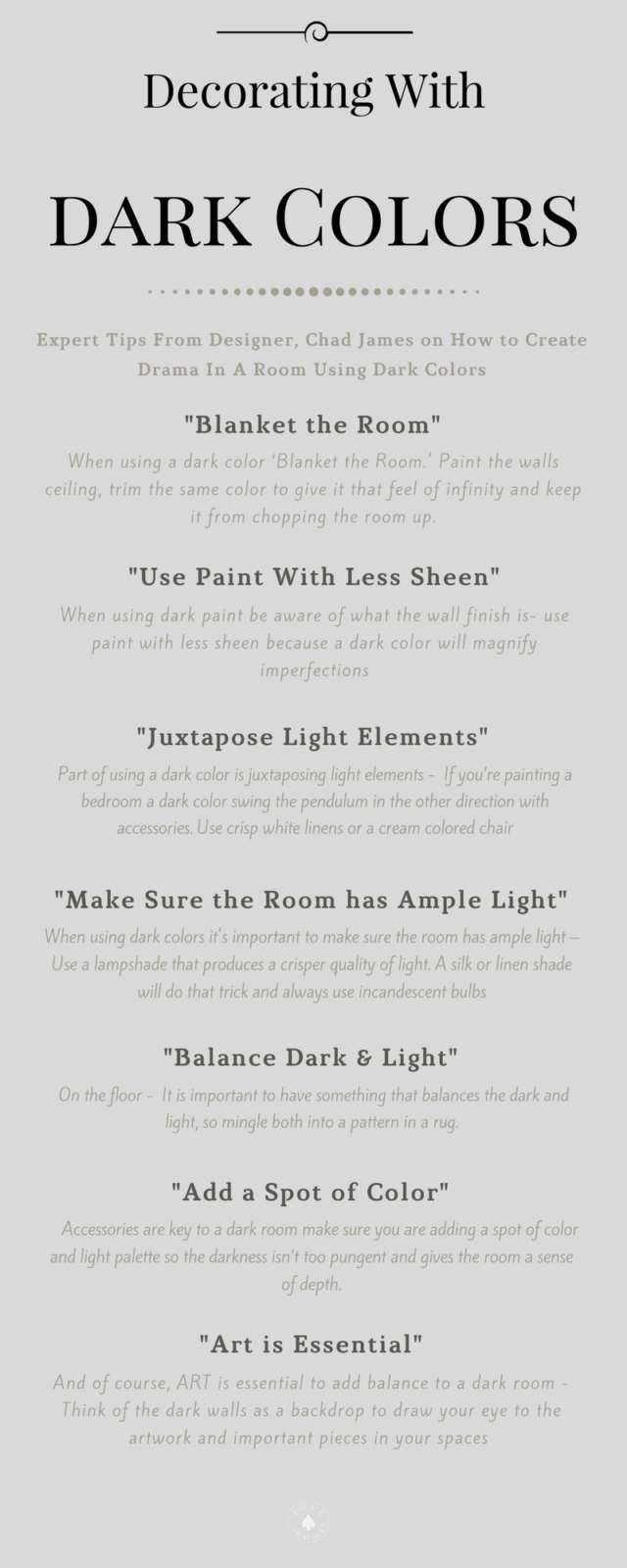 7 Expert Tips For Decorating With Dark Colors