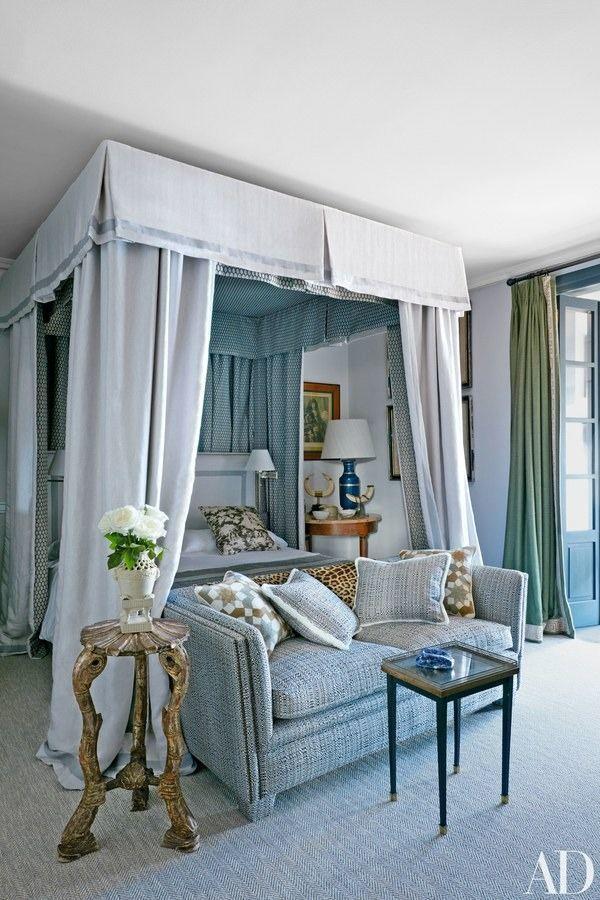 Designer/ Lorenzo Castillo-Photography/ Richardo Labougle #serenebedrooms #canopybeds #usingpattern