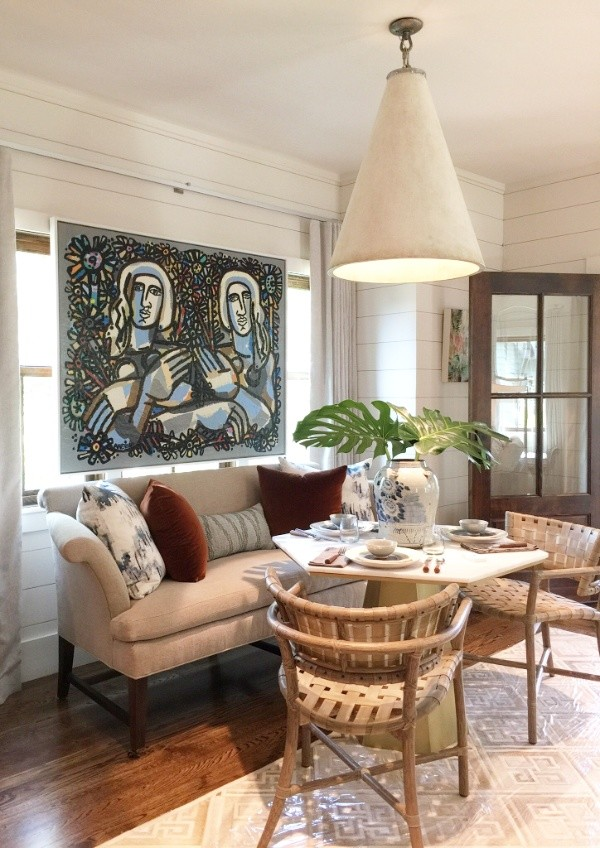 Decorating Small Spaces Like the Pros, #diningnooks #dining #showhouses #walltreatments