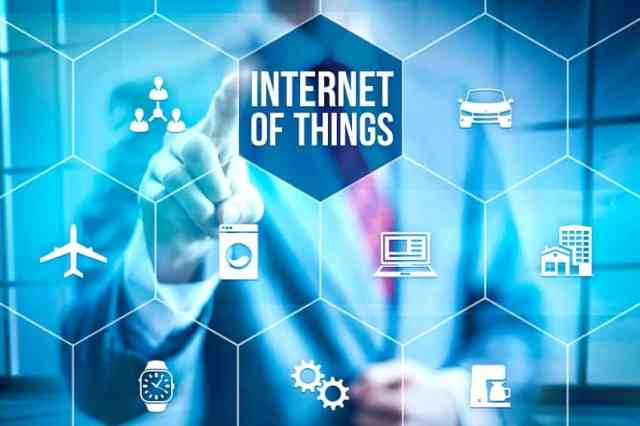 Future of internet UI concept of internet of things IOT