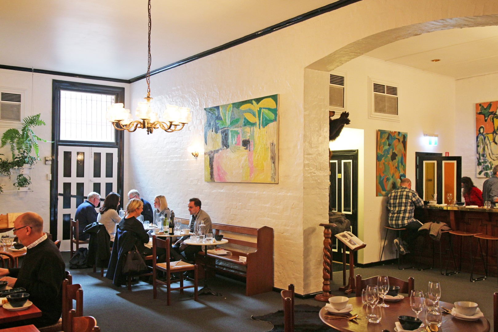 One of the main dining rooms at The Henry Austin