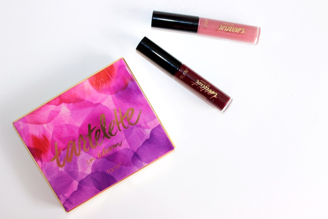 From left; Tartlette 2 In Bloom palette, Matte Lip Paint in Frenemy and TBT