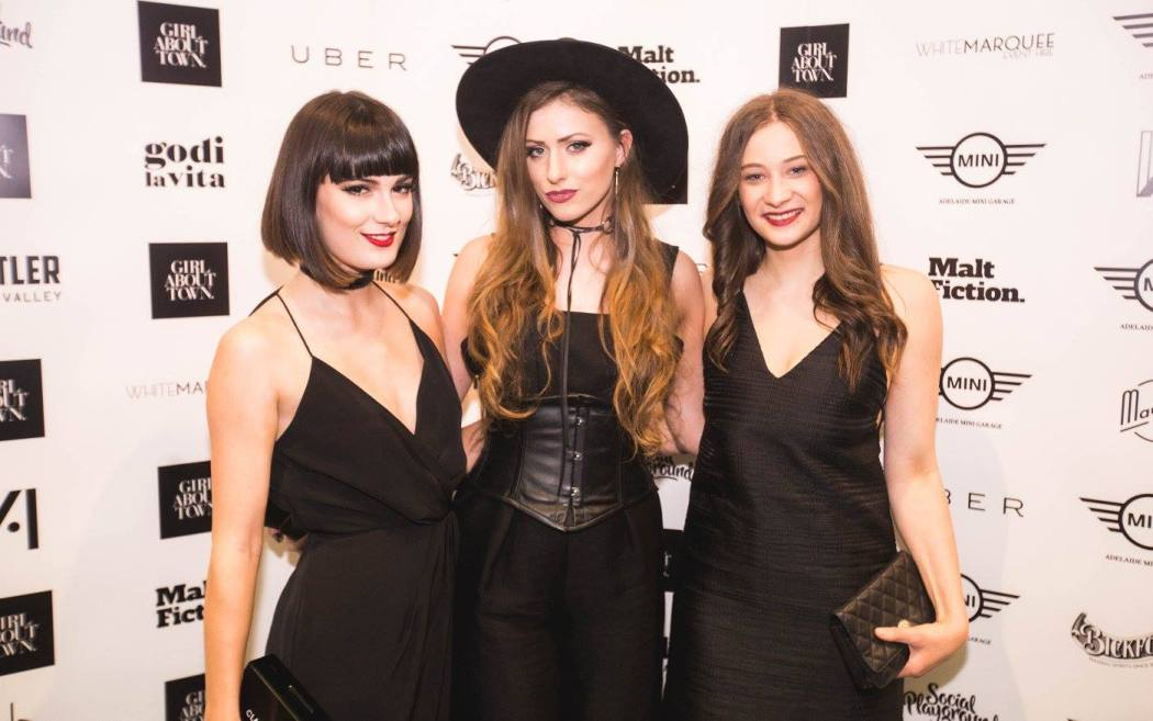 From left to right: Kristen Byass, Melissa Zahorujko and Taylah Minchington at the Girl About Town rebranding party
