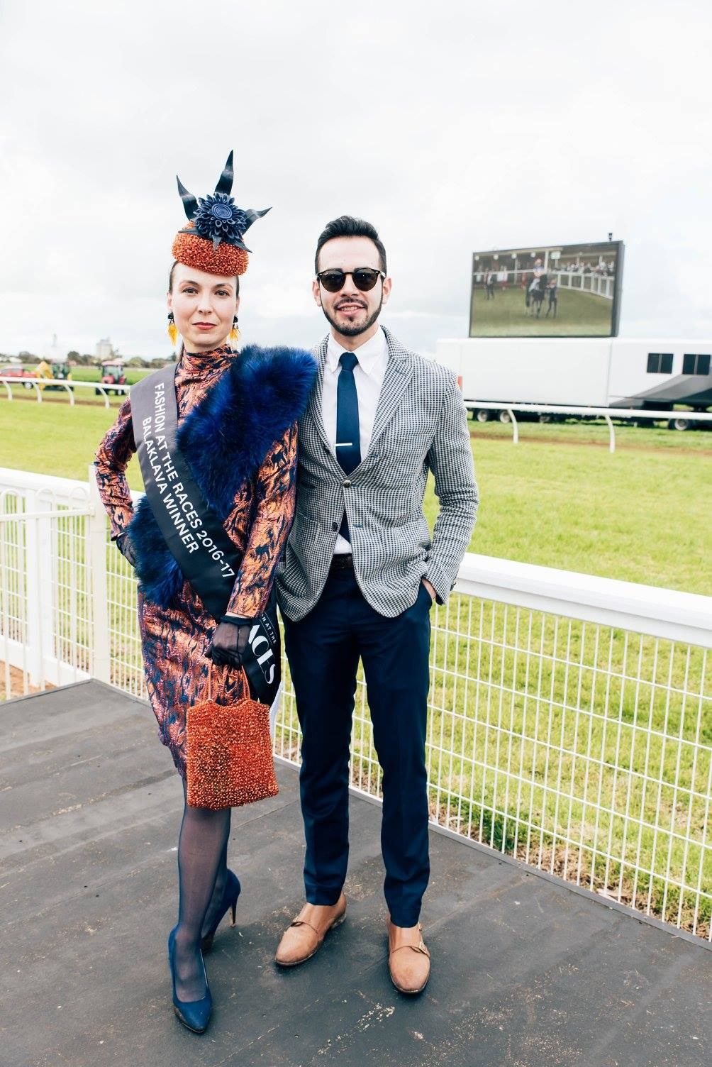 Winners of best dressed Oksana Caretti and Francisco Navarrete