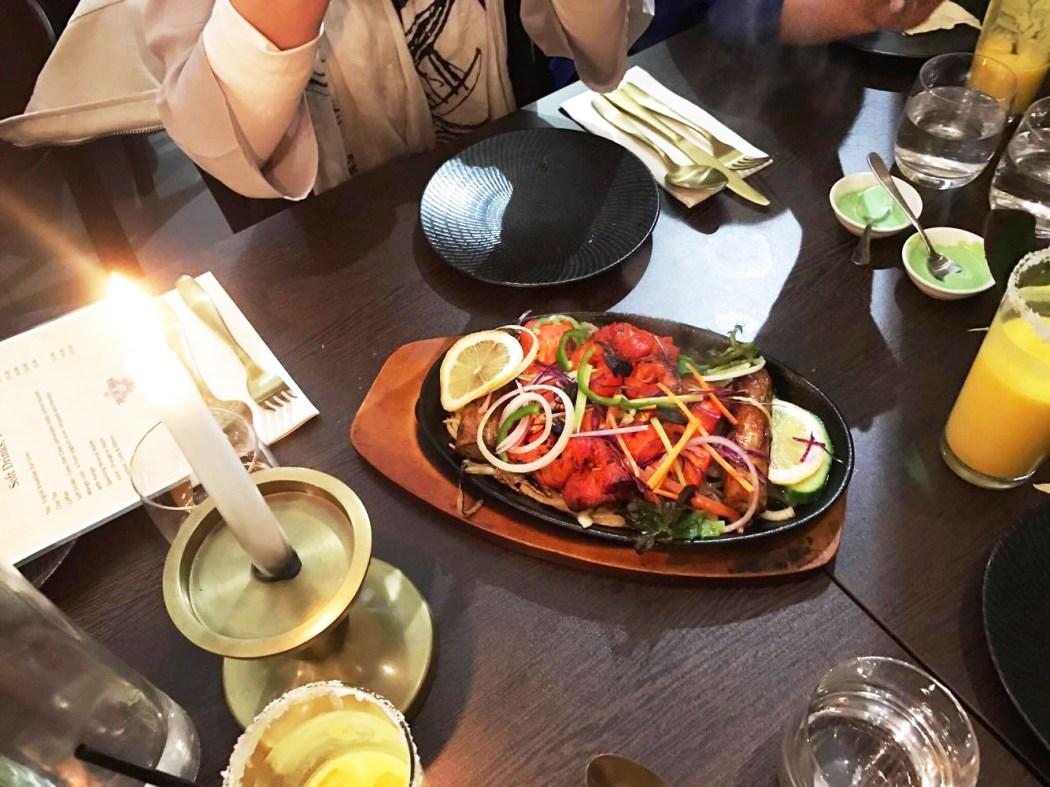 Entree: non-veg sizzling platter