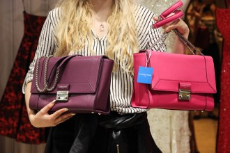 Some of the colourful Clarence Frank bags