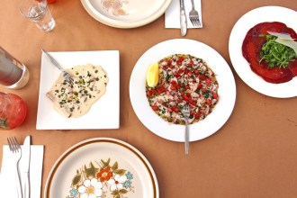 A selection of light refreshing and zesty entree dishes at Ruby Red Flamingo in North Adelaide.