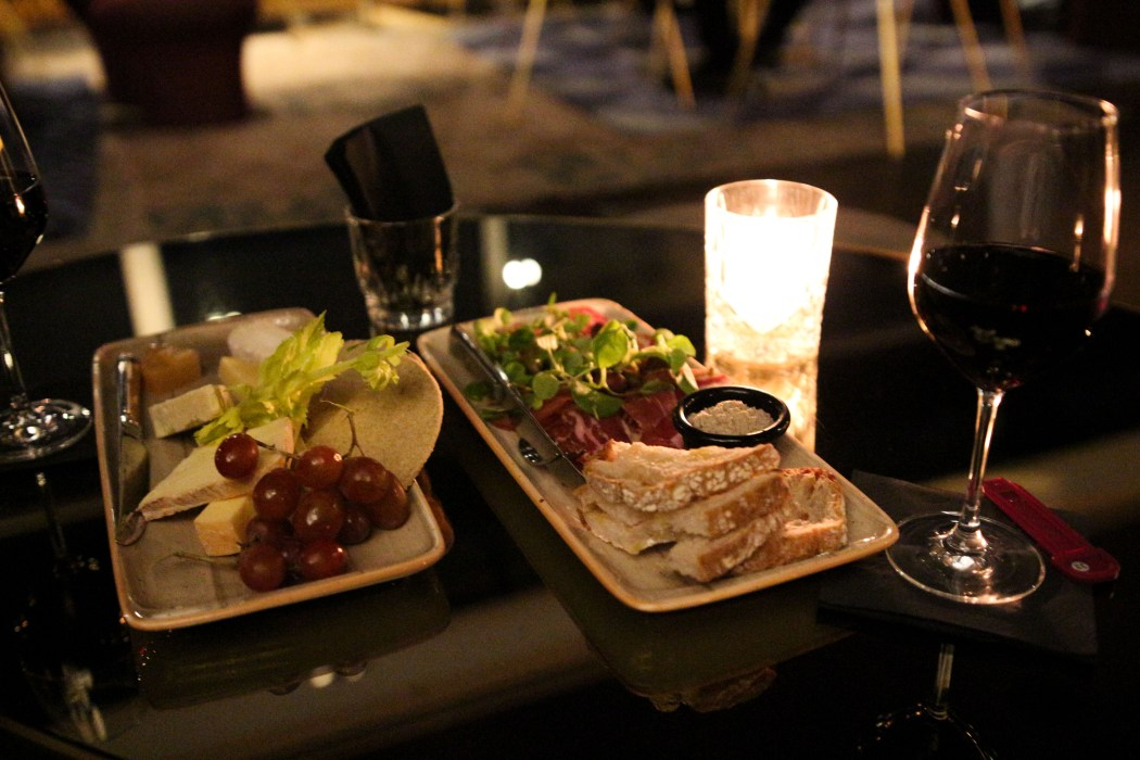 Charcuterie, cheese and wine at Rumpus Room London