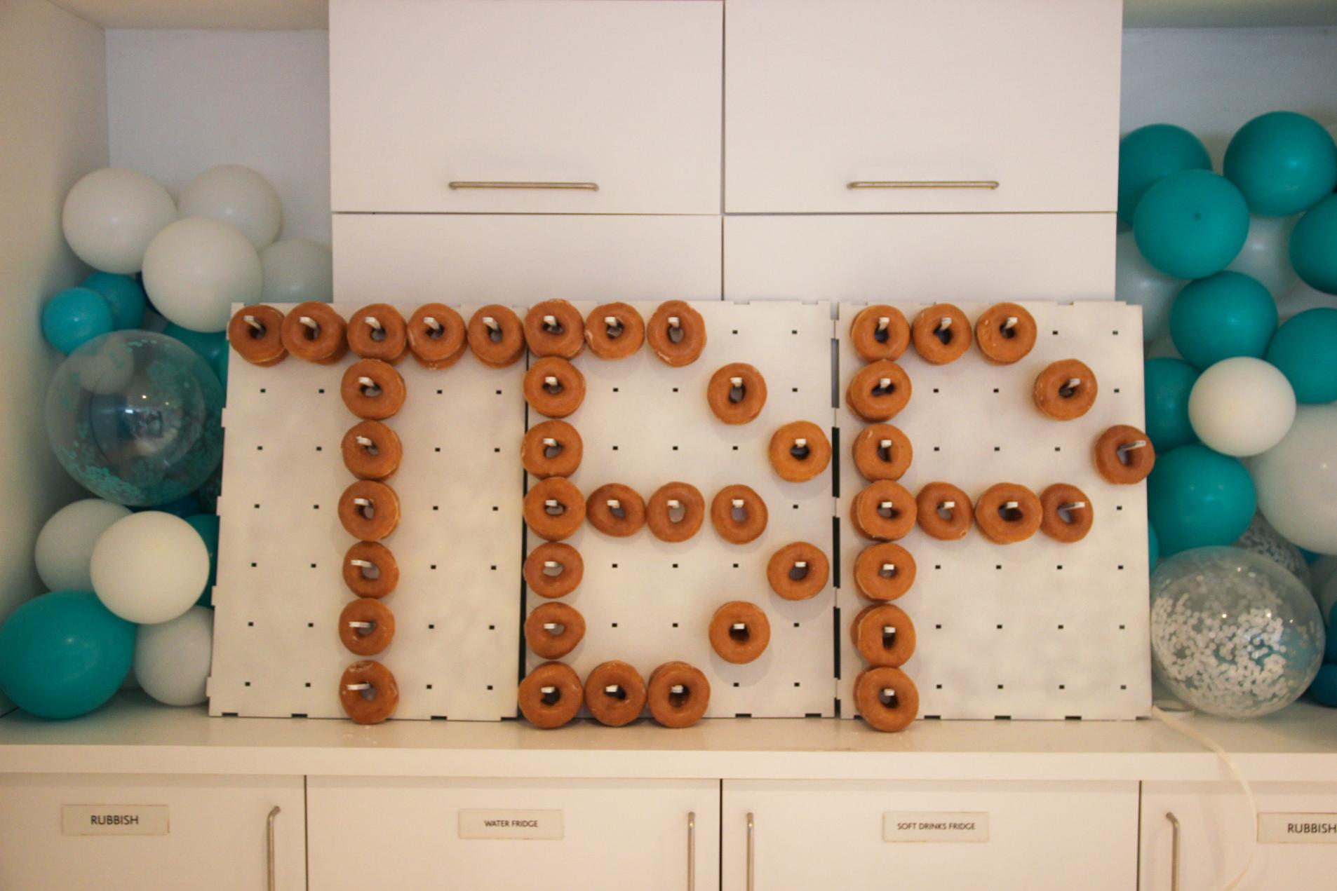 Krispy Kreme donut wall