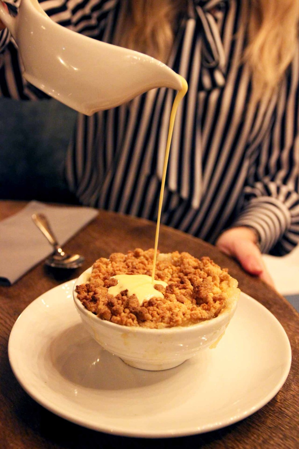 Apple Crumble and Custard. The Naturalist
