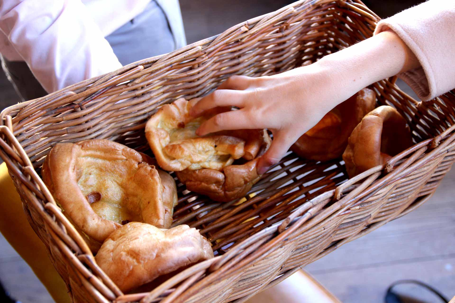 yorkshire puddings at the northcote hotel