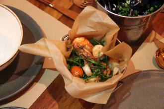 sautéed prawns with samphire and tomatoes andmussels at bucket london