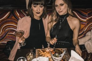 kristen byass and melissa zahorujko at steak and lobster bloomsbury