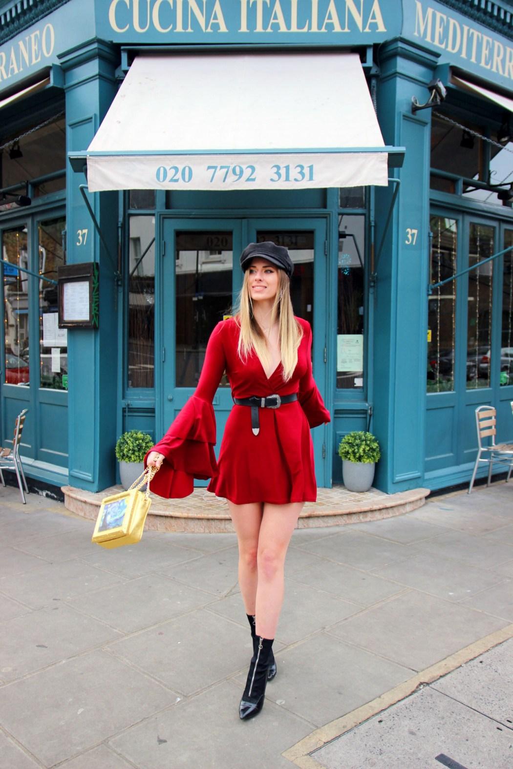 Melissa Zahorujko in front of Mediterrano Italian Notting Hill, West London