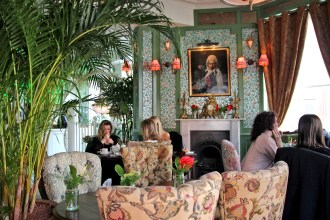 Decor at Mr Fogg's House of Botanicals Tipsy Blooming Tea