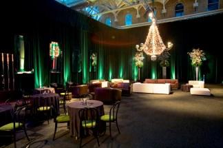 Old Billingsgate draped reception area.bright