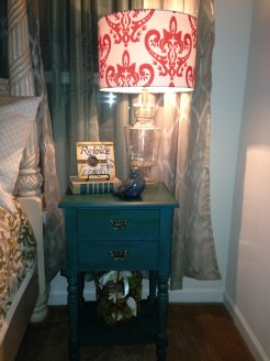 Bedroom side table lamp from Hobby Lobby