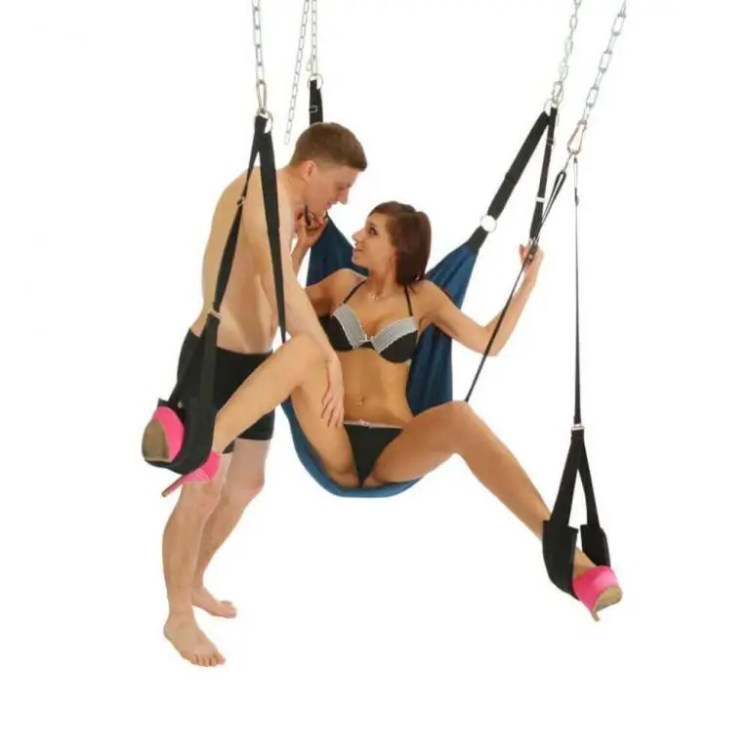 Leather sex sling for bedroom swing sex