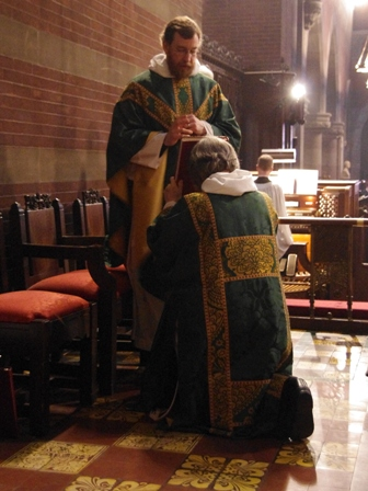 blessing the Deacon