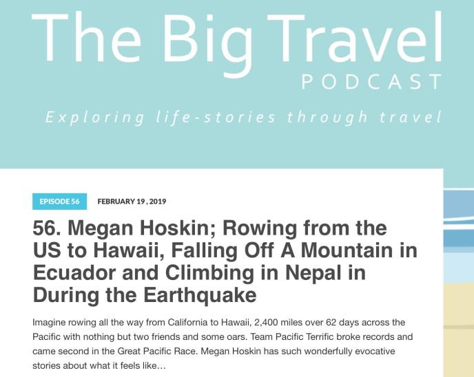 Big Travel Podcast Screenshot