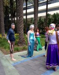 Wondercon 2014 Anaheim Disney cosplay Jack Frost, Elsa, Ariel, Rapunzel