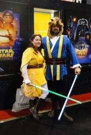 Star Wars Celebration Anaheim 2015 Beauty and the Beast, Belle and Prince Jedi cosplay