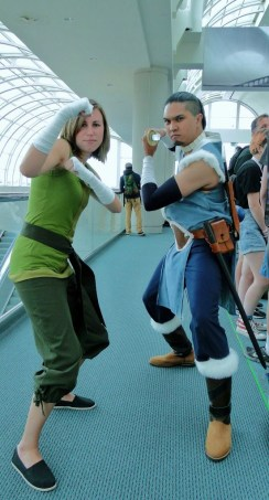 Water Tribe Korra and Sokka cosplay