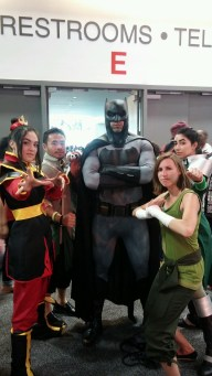 Avatar/Korra group cosplay squad with Batman