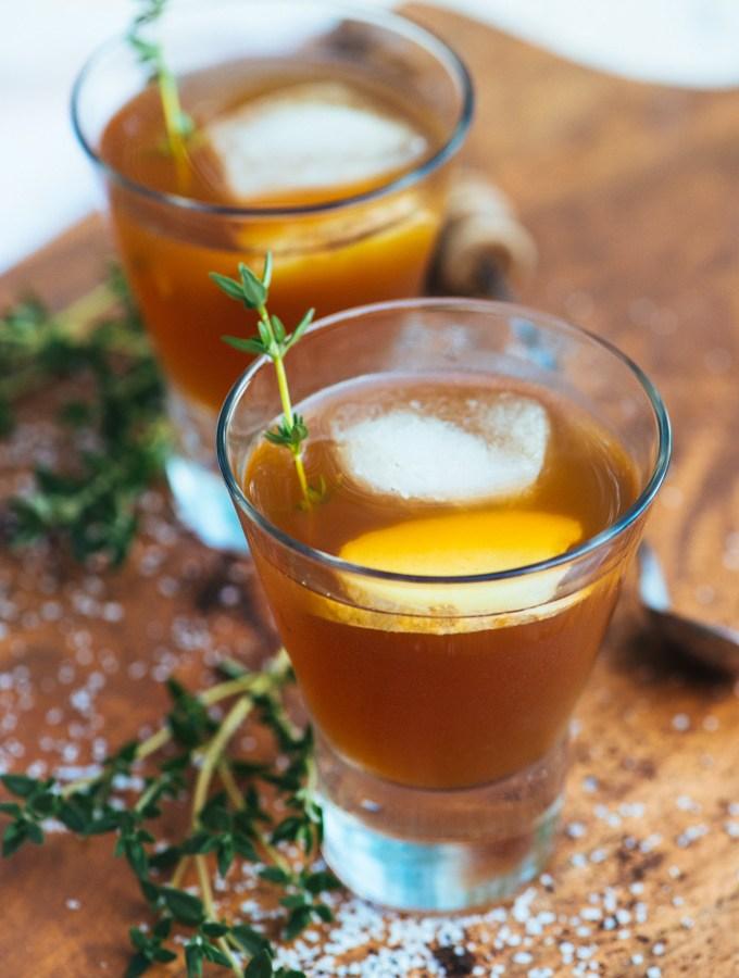 Ulysses Left on Ithaca Cocktail (Earl Grey, Ginger, Lemon, & Bourbon)