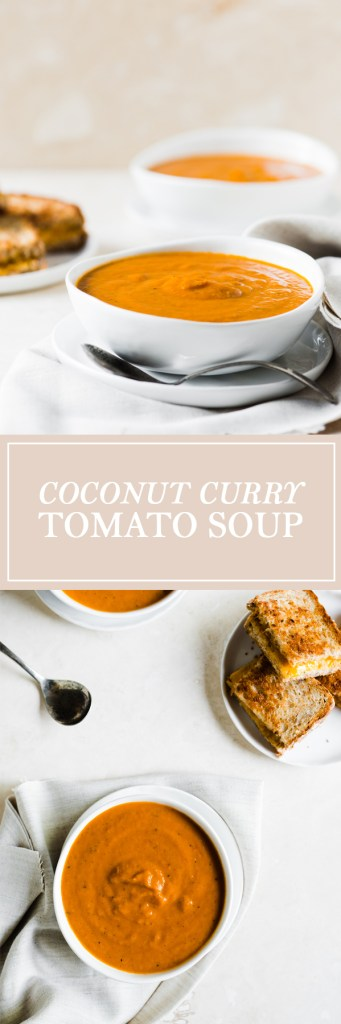 Coconut Curry Tomato Soup - A delicious blend of coconut curry flavour and tomato soup.