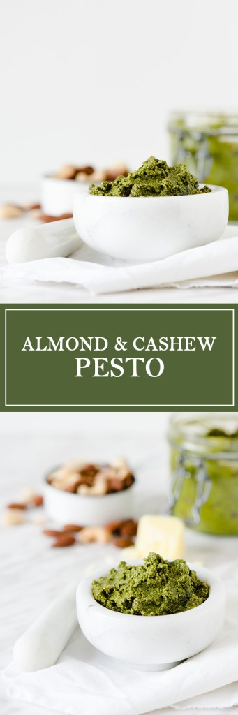 Almond & Cashew Pesto - A twist on classic pesto, with cashews and almonds.