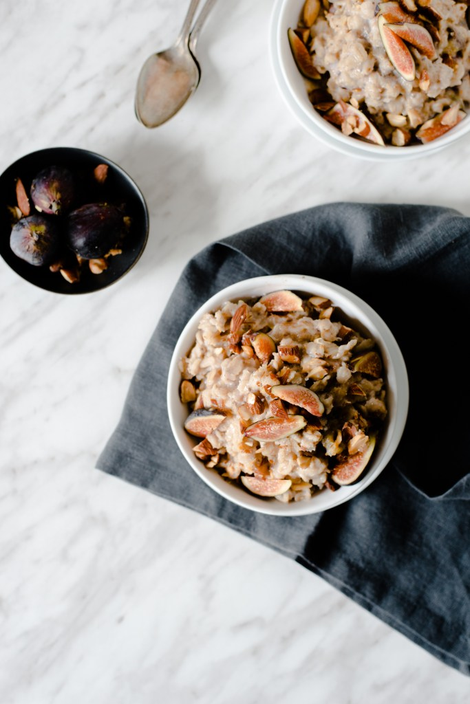 Fig & Almond Oatmeal - A simple, beautiful breakfast.