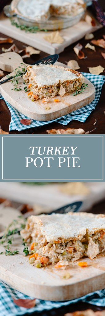 Turkey Pot Pie - One of my favourite ways to use up turkey leftovers!