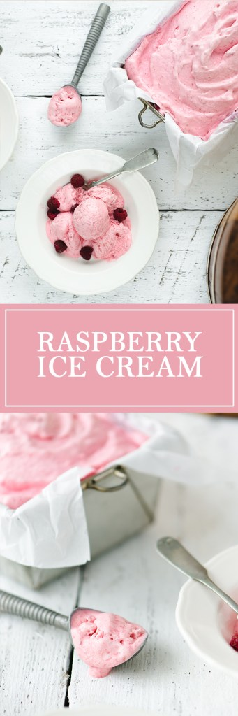 Raspberry Ice Cream - Fresh raspberries and sour cream, give this ice cream a bright, tangy flavour!
