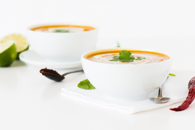 Thai Curried Pumpkin Soup - A great way to use up leftover pumpkin!