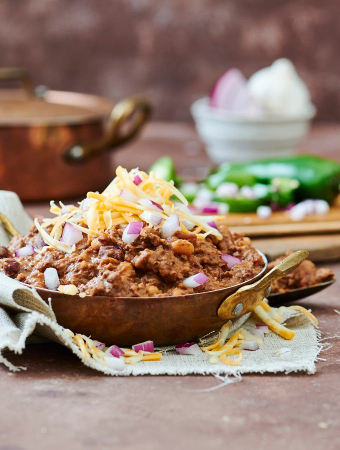 Ancho, Beef, & Bean Chili