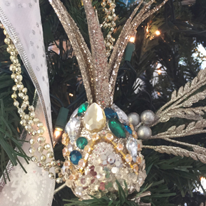 pineapple christmas tree ornament