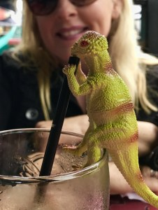 Dino Drinking The Adventure Travelers