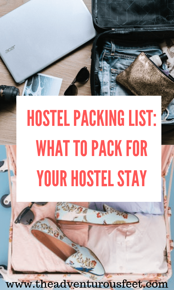 Staying at a hostel can be challenging if you don't know what to pack. So here is the ultimate hostel packing list. #hostelpackinglist #whattopackforyourhostelstay #hostellife #backpackerlife #everythingyouneedwhilestayinginahostel