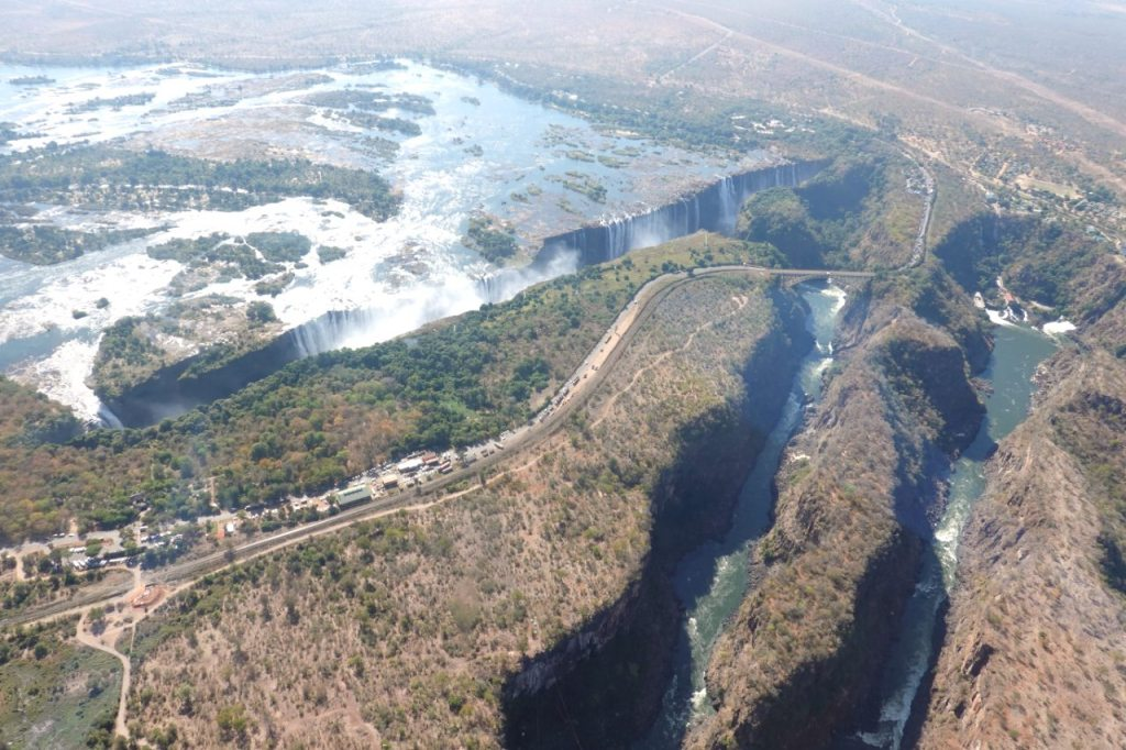 flying over the victoria falls