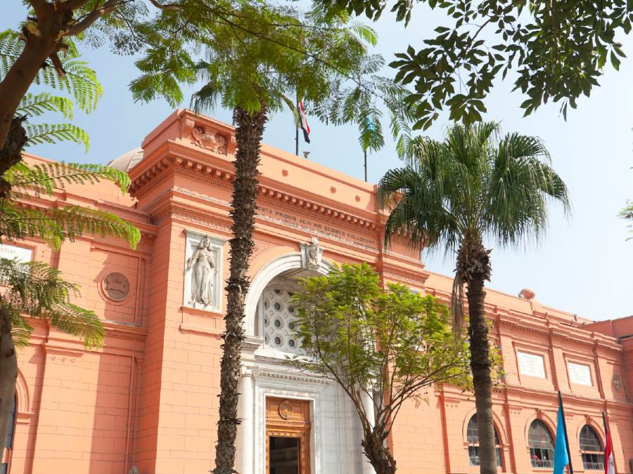 The Egyptian Museum is one of the famous landmarks of Egypt