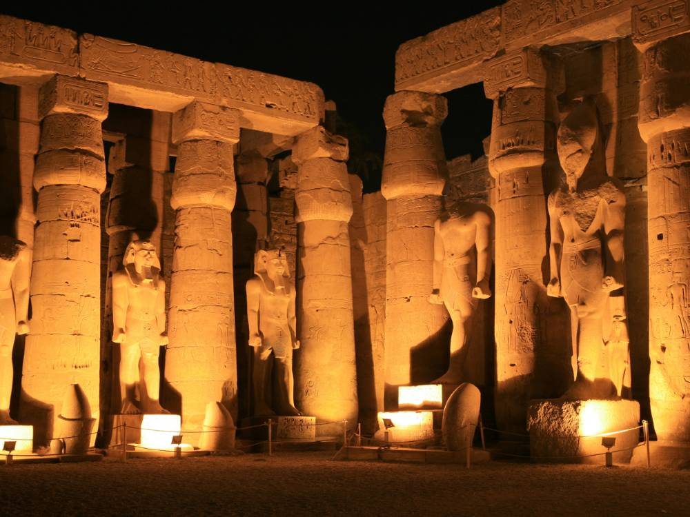 Luxor Temple is one of the famous landmarks in Egypt