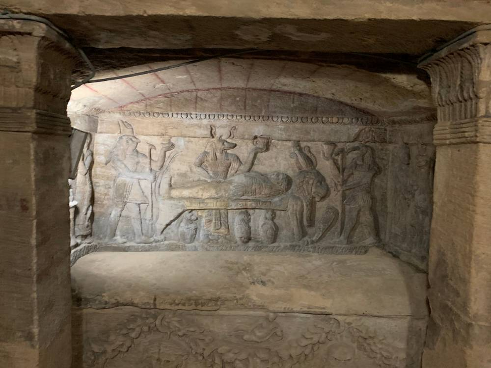 The Catacombs of Kom El Shoqafa is one of the famous ancient landmarks in Egypt