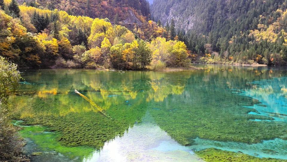 Jiuzhaigou is one of the natural landmarks in China