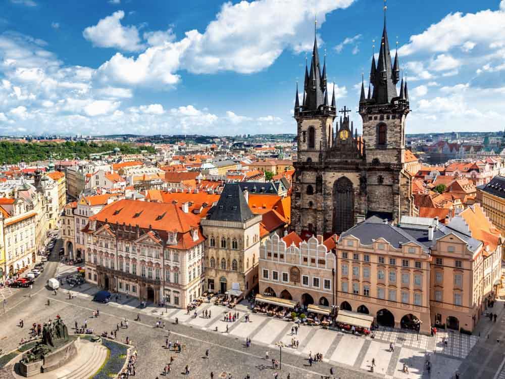 Prague Castle in Prague is one of the European famous landmarks