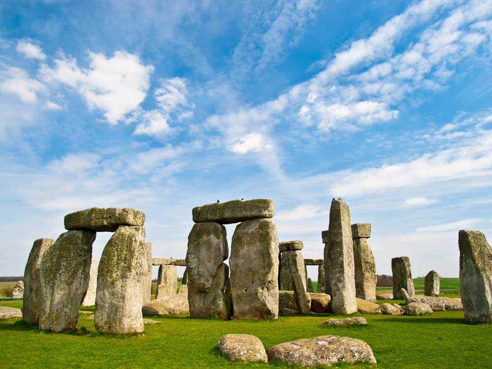 Stonehenge in Wiltshire is one of the historical sites in Europe