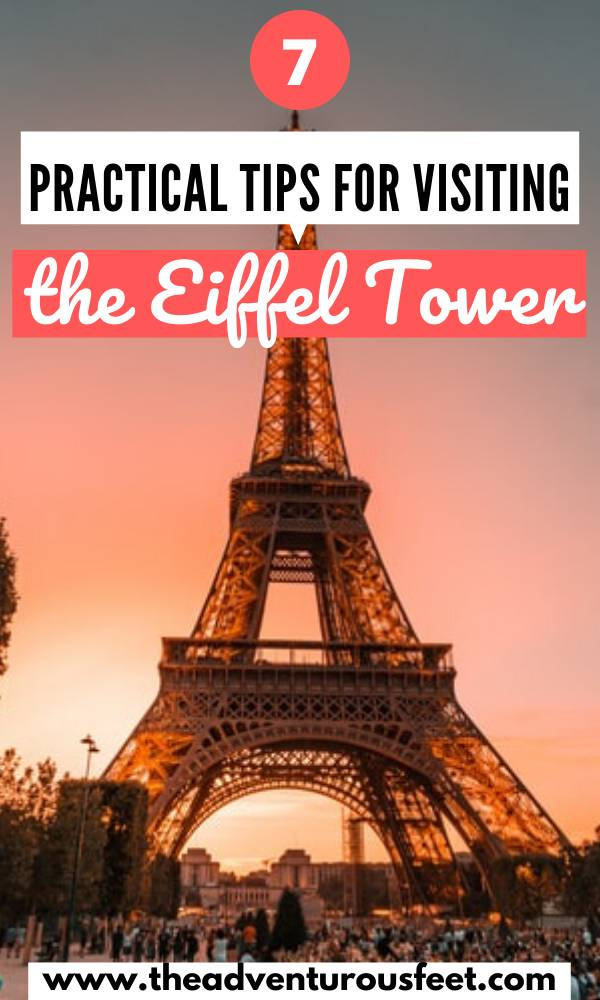 Visiting the eiffel tower for the first time? Here is everything you need to know.  tips for visiting the eiffel tower   how to get to the eiffel tower   how to skip the lines at the eiffel tower  prices of the entry tickets to the eiffel tower   things to do at the eiffel tower   eiffel tower visit tios   the ultimate guide to visiting the eiffel tower  opening hours of the eiffel tower  visiting the eiffel tower tips  best time to visit the eiffel tower #tipsforvisitingtheeiffeltower #eiffeltowertips #theadventurousfeet