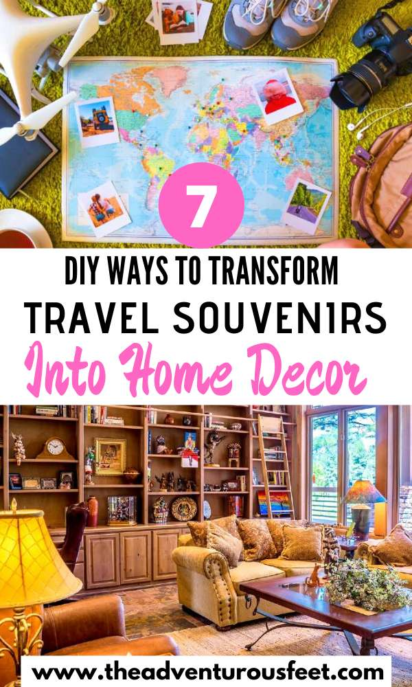 Want to use your travel souvenirs in a creative way? Here are the best DIY ways to transform travel souvenirs into home decor.  how to make home decor out of travel souvenirs   travel crafts ideas you'll love  travel diy craft ideas   crafts for travel ideas   travel map craft ideas   travel crafts diy good ideas  travel crafts   diy travel crafts travel crafts for kids easy diy  diy travel ideas creative  diy travel crafts memories #honedecortravelcrafts #diytravelcrafts #interiordecorwithtravelcrafts #theadventurousfeet
