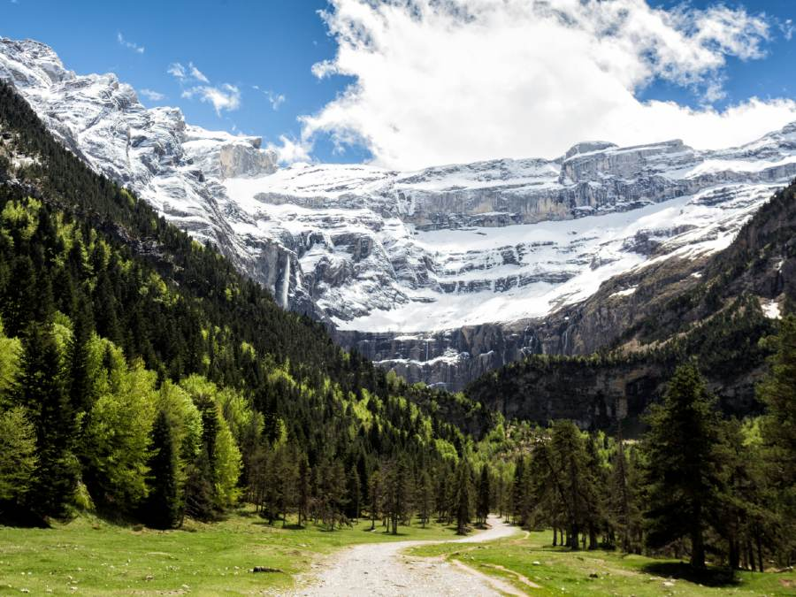 Cirque du Gavarnie is one of the natural landmarks in France