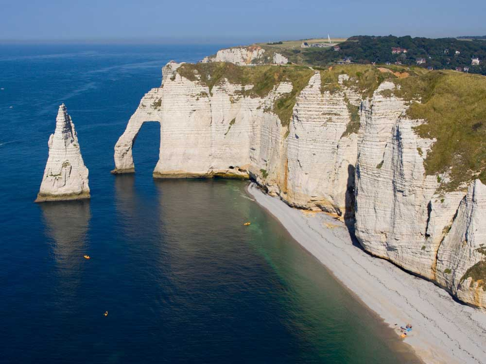 Etretat Cliffs is one of the  France monuments